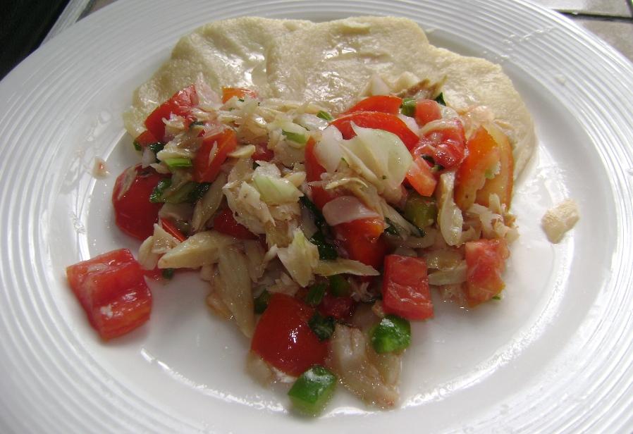 Cassava Dumpling & Salt Fish Buljol