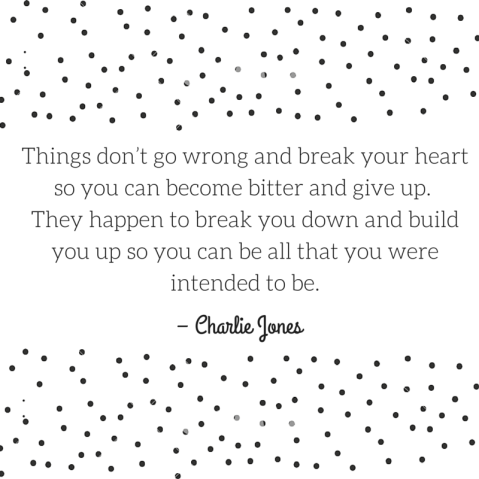 """""""Things don't go wrong and break your"""
